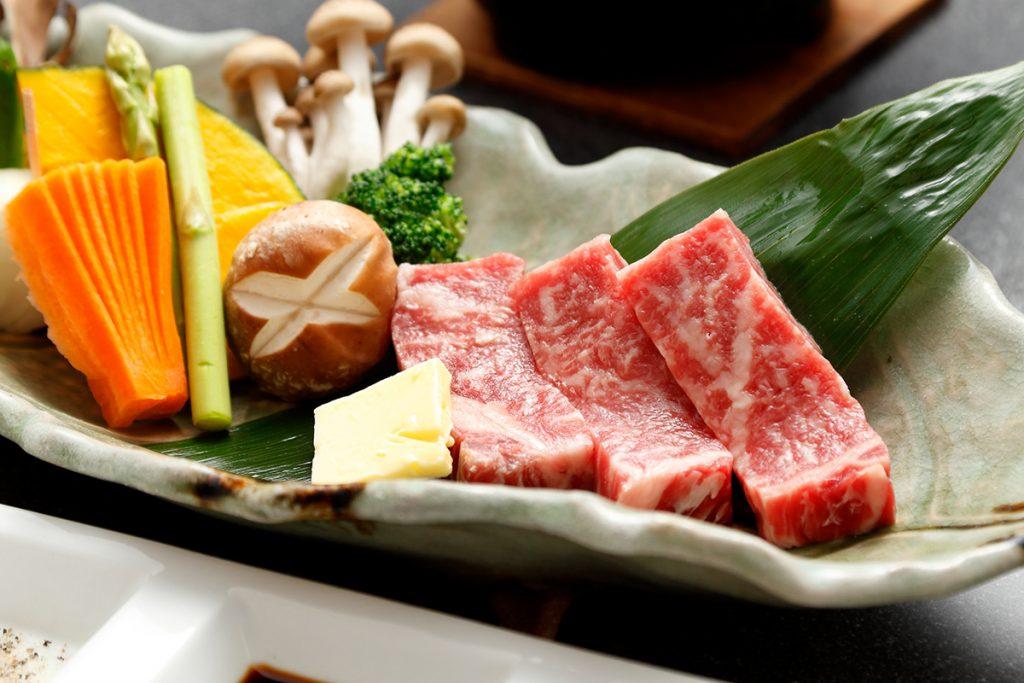 上州牛の石焼ステーキ